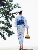 Woman wearing Yukata