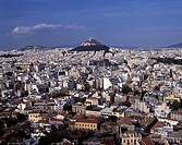 Aerial view of city, Athens, Greece