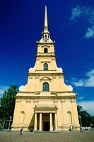 Facade of a cathedral, Peter and Paul Cathedral, St  Petersburg, Russia