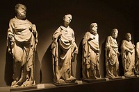 europe, italy, tuscany, siena, museum opera metropolitana, statues of the school of giovanni pisano representing the apostles