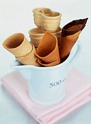 assorted ice cream cones