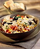fancy pasta with fresh sheep´s cheese and parmesan topic: lpasta