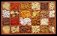 dried products in compartment box