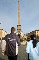 europe, italy, lazio, rome, piazza navona, sightjogging