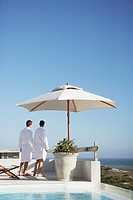 Couple at a luxury resort