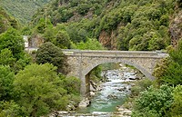 Bridge, Hecho, Valley, Pyrenees, Spain,