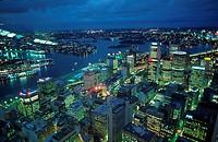 Sydney, at, night, New, South, Wales, Australia, Sydney, bei, Nacht, New, South, Wales, Australien,