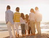 Multigenerational family portrait outdoors