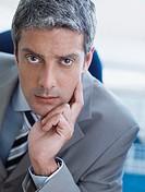 Closeup of businessman