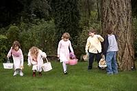 Children looking for Easter eggs