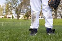Young boy´s dirty baseball uniform