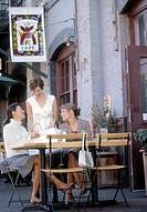 Women at outdoor restaurant