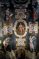 Close-up of a mural on the wall of a church, Piazza Venanzio, Gabriotti, Citta Di Castello, Umbria, Italy