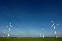 Germany, Wind wheels in field