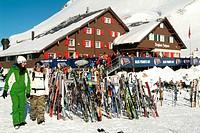 mountain house Jochpass, winter, winter sports, mountain restaurant, restaurant, Outside, ski, snowboard, sports, tour