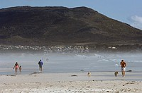 Tourists on the beach, Noordhoek Beach, Cape Town, Western Cape Province, South Africa