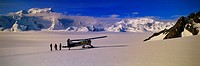 Airplane Parked on an Ice Field