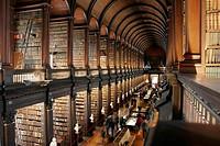 Interiors of library, Trinity College, Dublin, Dublin County, Leinster, Ireland