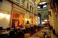 Tourists sitting at restaurant, Bucharest, Romania