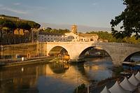 Rome. Italy.  Isola Tiberina