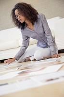 Art director looking at photos