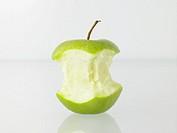 Bitten granny smith apple