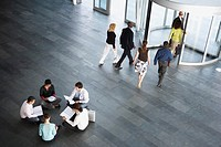 Businesspeople in Office Lobby