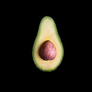 Half of an Avocado with Pit