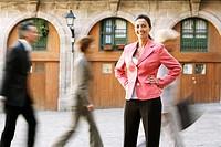 Businesswoman on Busy Street
