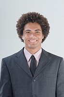 Mixed Race man wearing suit
