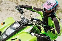 Man riding quad bike