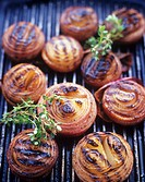 Grilled onion slices