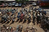vehicles parking area , bombay mumbai , maharashtra , india