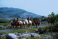 Horse Sports, Pony Trecking In The Burren, Co Clare,