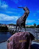 Scupture of Puck, Killorglin, Co Kerry, Ireland