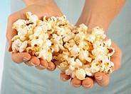 Woman Holding Popcorn