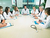 Group of doctors meeting in conference room
