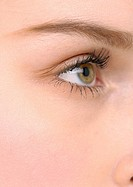 Close-up of a young woman´s eye