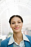 Close up of African businesswoman