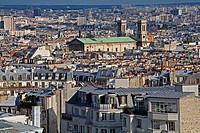View of of Paris from the Basilica of Sacré Coeur. Paris. France