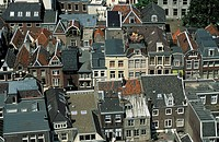 Utrecht aerial view on city centre