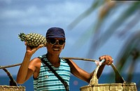 Boracay, selling pineapples on the beach