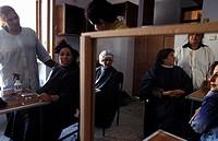 Classroom scene from the Kabul Beauty School