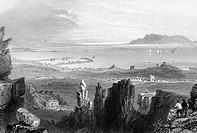 Ireland. Dublin. Dublin Bay from Kingstown Quarries. (Circa 1860´S)