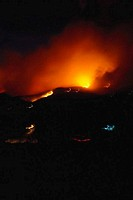 France, Corsica, fires at night