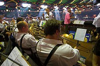 Music, band, , in, beer, tent, Public, Festival, ´Oktoberfest´, Munich, Bavaria, Germany, München, music,