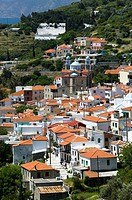 Town View Western Samos. Marathokampos. Samos. Northeastern Aegean Islands. Greece.