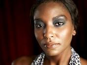Portrait of an African Woman  Studio Shot