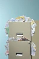 Full filing cabinet
