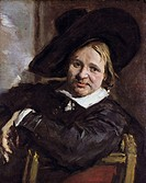 fine arts, Hals, Frans 1581 / 1585 - 1 9 1666, painting, Man in a slouch hat, 1660 - 1666, oil on canvas, 79,5 cm x 66,5 cm, state museum, Kassel, Ger...
